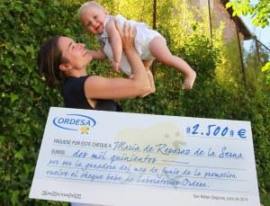 Maria de Reparaz - ganadora junio cheque ordesa 10