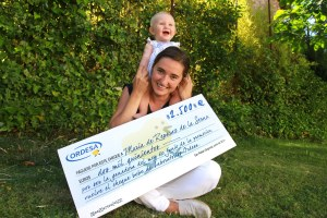 Maria de Reparaz - ganadora junio cheque ordesa 16